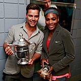 Ricky Martin posed with Serena Williams after she won the women's singles finals match.
