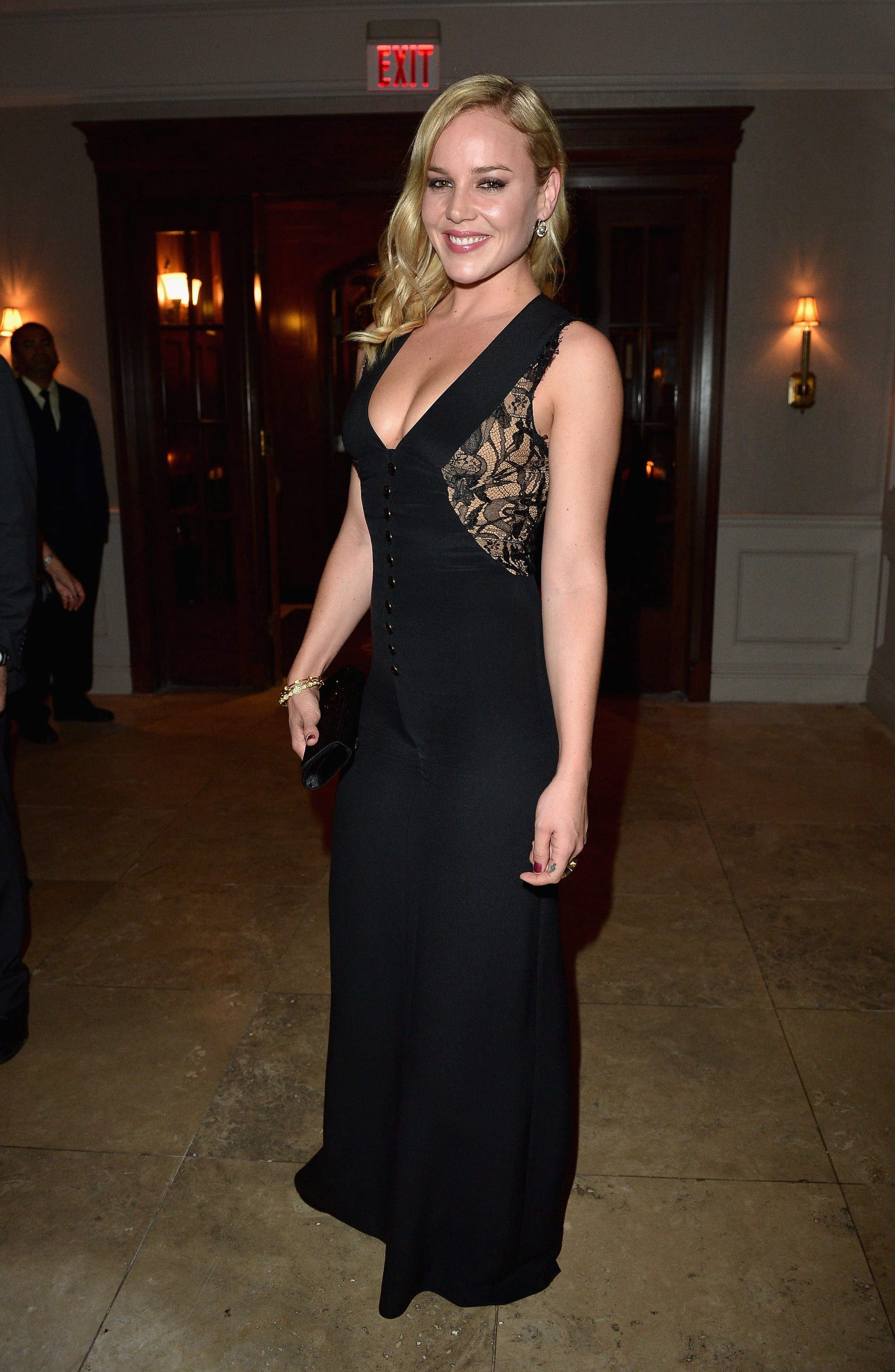 Abbie Cornish Rocked A Black Emilio Pucci Jumpsuit The Sexy Lace