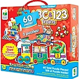 The Learning Journey Giant ABC & 123 Train Floor Puzzles