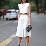 It's important to flash a little bit of flesh somewhere on date night, so why not go with your midriff?