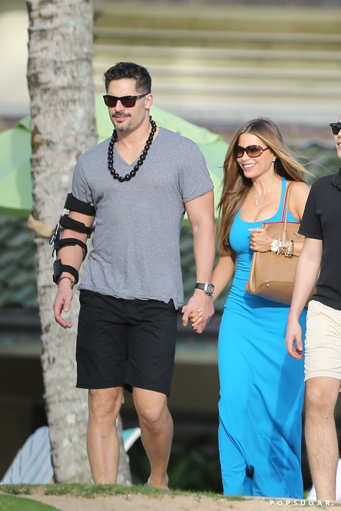 Sofia Vergara and Joe Manganiello popped up in Hawaii on Sunday and were spotted looking as romantic as ever. The stars were spotted walking with Sofia's son, Manolo, while Joe wore an arm brace for an injury he suffered on the set of Magic Mike XXL. Joe hurt his arm back in November, and his rep reported at the time that it will take a few months for him to get back to normal. Still, Joe isn't letting his injury stop him from spending time with his girlfriend!