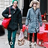 Andrew Garfield and Emma Stone walked in NYC on Sunday.