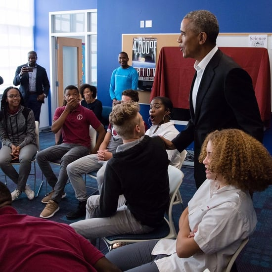 Barack Obama Surprise Visit to High School 2017