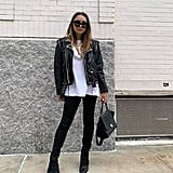 A Leather Jacket, a White Shirt, and Black Jeans