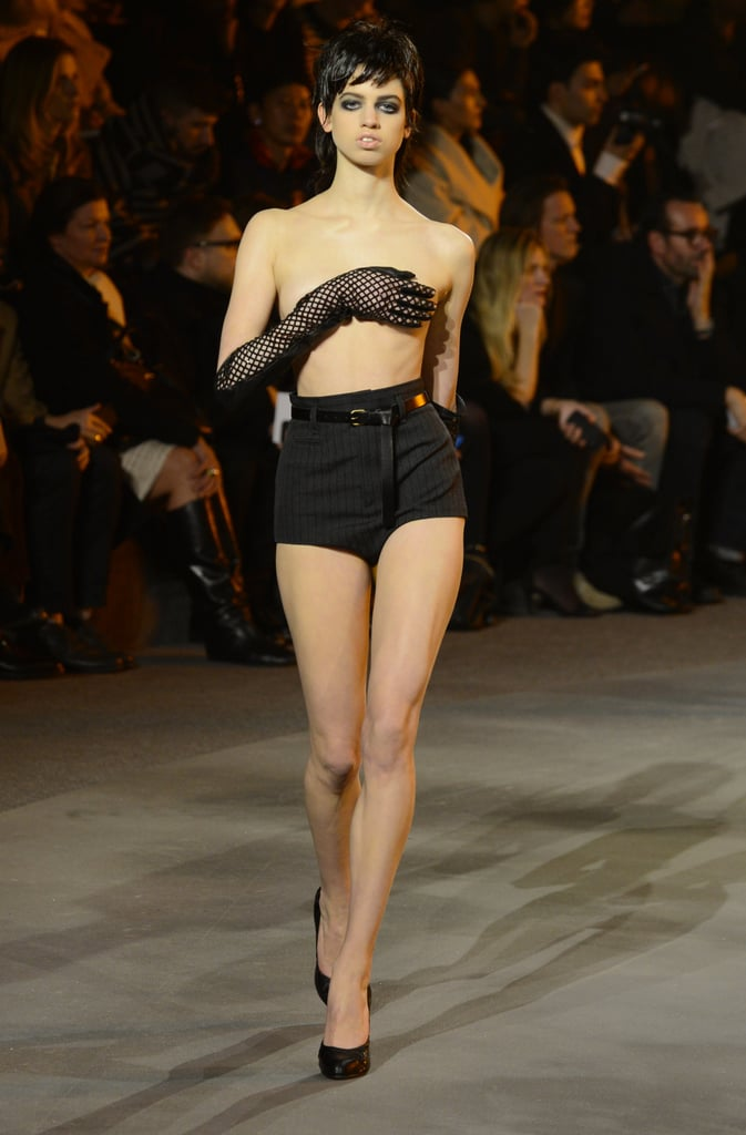 Lily McMenamy's Bare-Chested Walk at Marc Jacobs