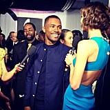 Karlie Kloss met up with Frank Ocean on the red carpet. Source: Instagram user KarlieKloss