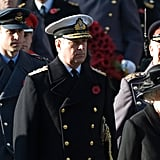 Prince William and Prince Charles in uniform for Remembrance Sunday, following Queen Elizabeth II.