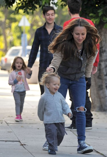 Pictures of Tobey Maguire and Jennifer Meyer With Their Kids Otis and Ruby