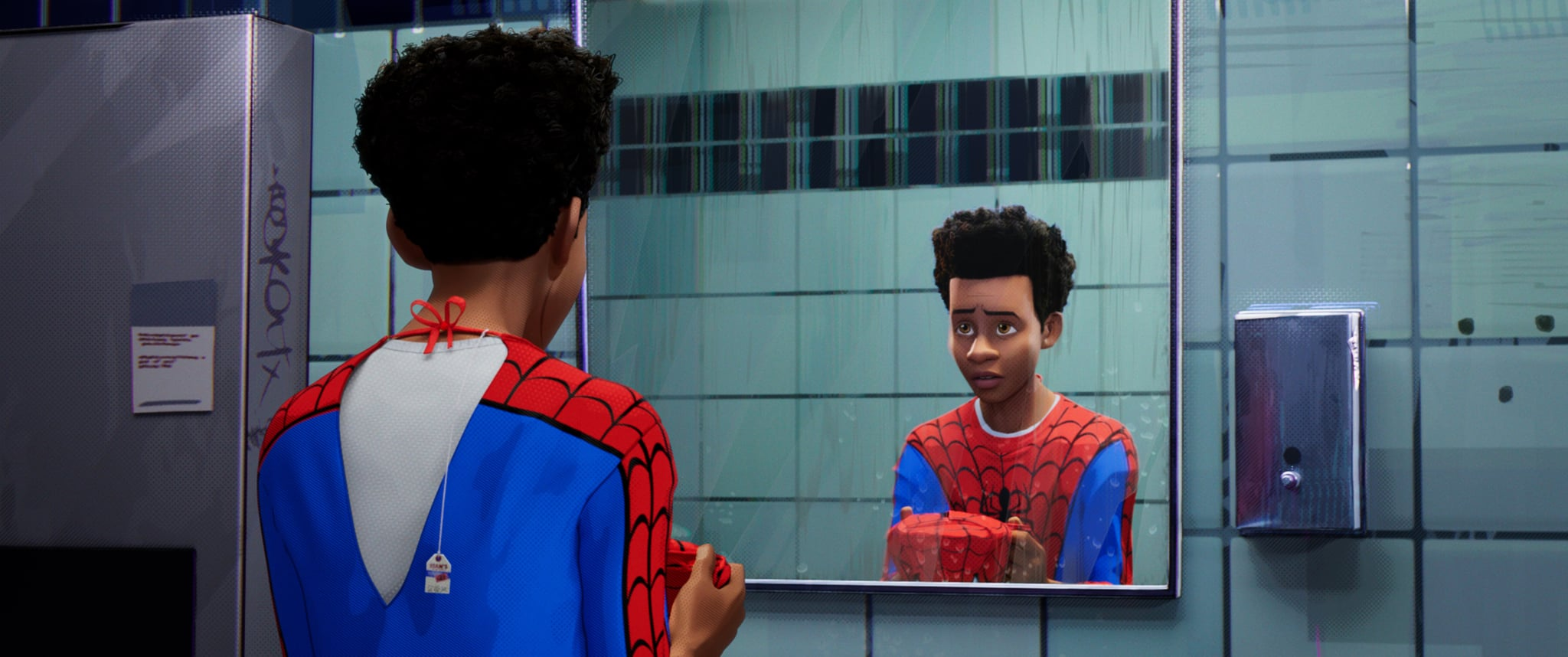 Miles Morales (Shameik Moore) in Columbia Pictures and Sony Pictures Animation's SPIDER-MAN: INTO THE SPIDER-VERSE.