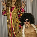 Jennifer Lopez and Casper Smart wore hippie gear in 2012.