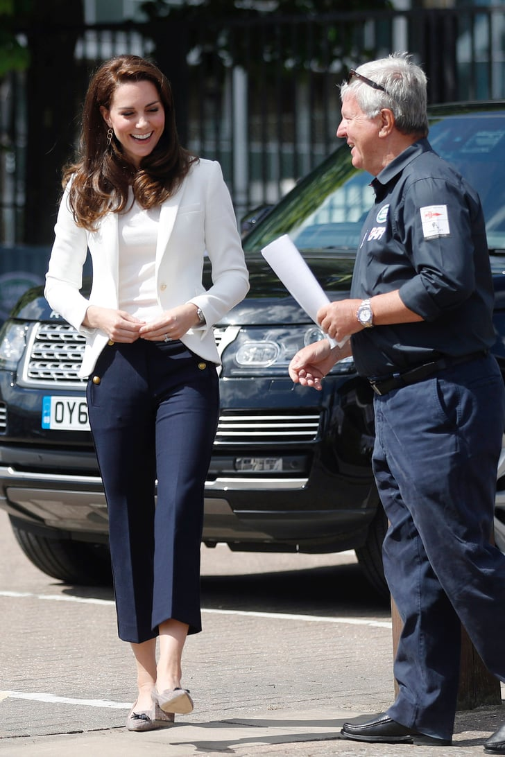 Kate Middleton S J Crew Nautical Pants Popsugar Fashion
