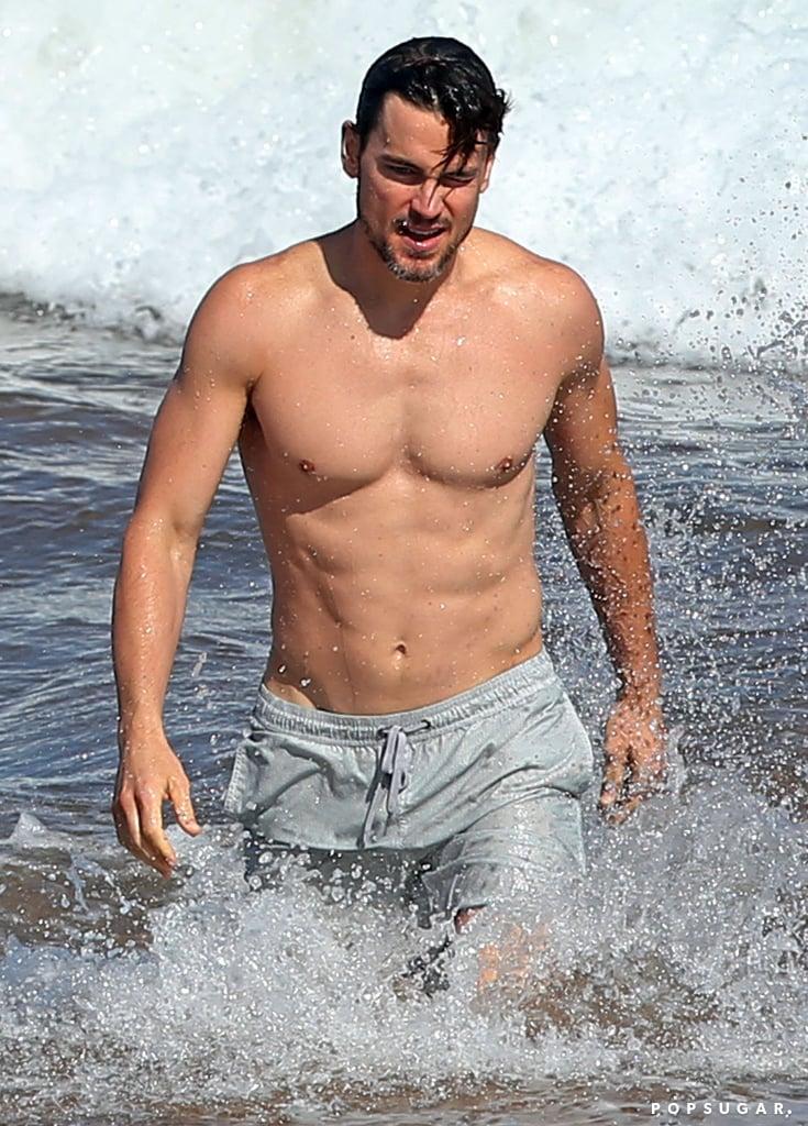 Shirtless Matt Bomer In Maui Hawaii Pictures Popsugar