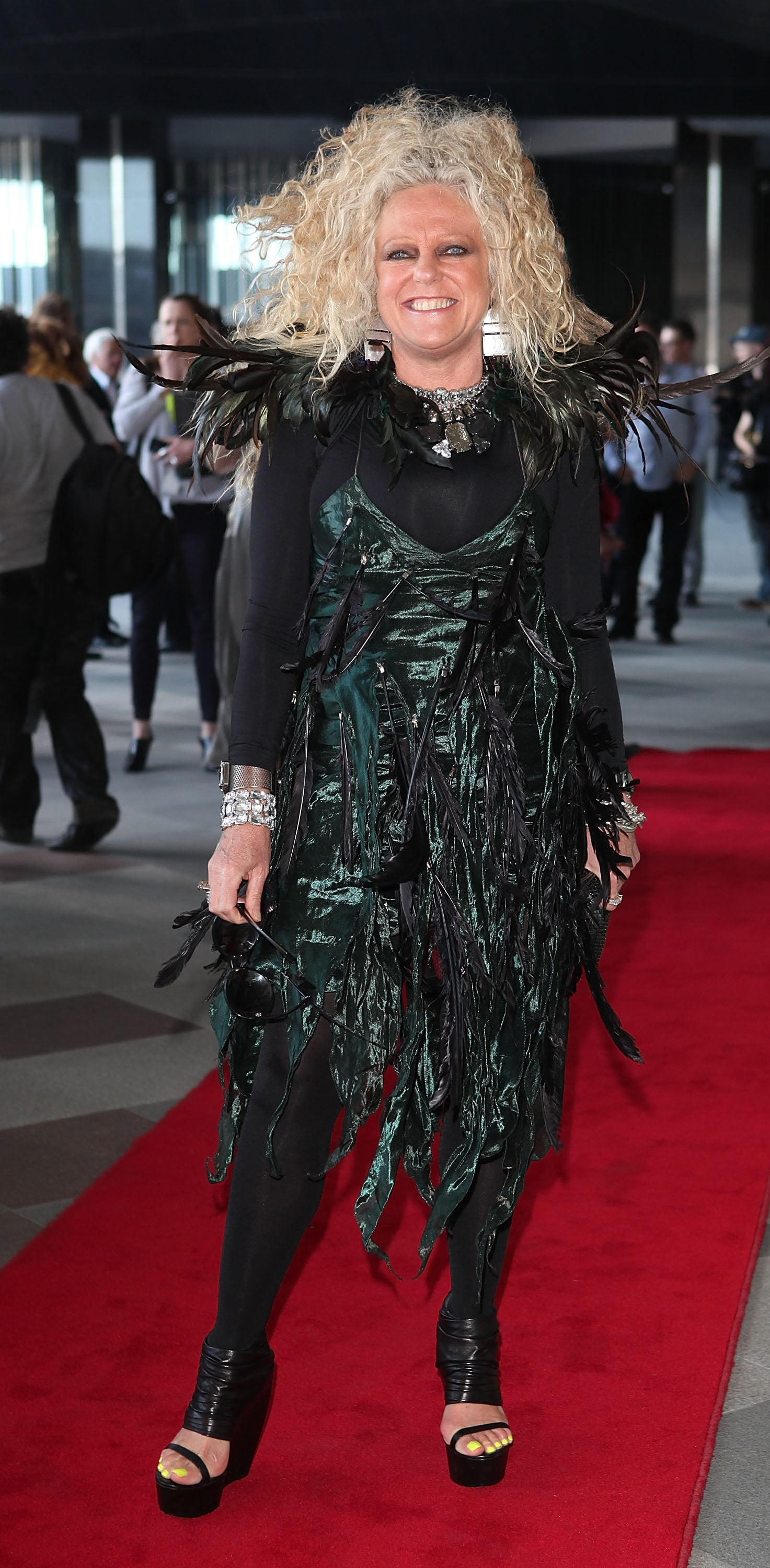 Eclectic designer Jenny Bannister stepped out for LMFF.