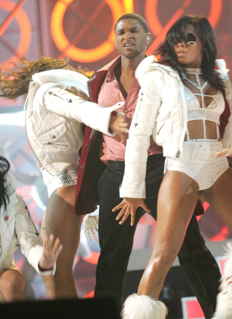 Usher got sexy on stage in 2004.