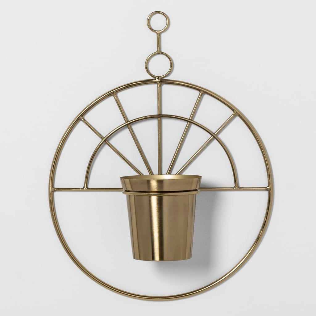 "Project 62 22.2"" x 3.6"" Decorative Metal Hanging Planter Gold"