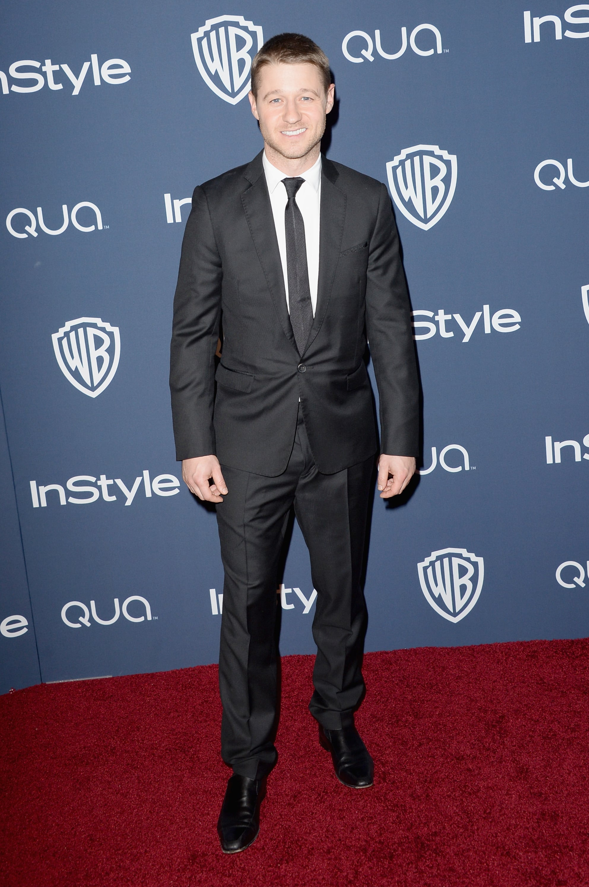 Ben McKenzie was all smiles while posing for photos.