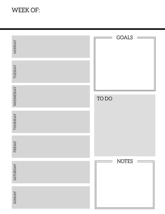 Download: Paper Trail Design Weekly Planner Pages | Free ...