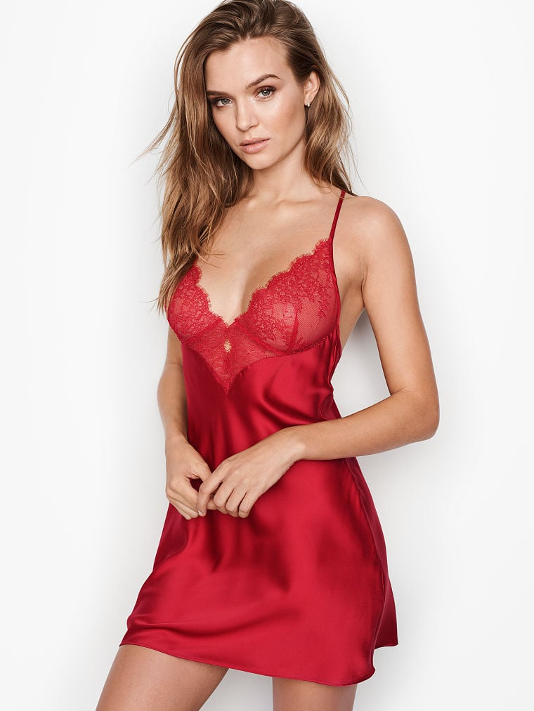 3e08120f017c0 Victoria's Secret Chantilly Lace Satin Slip | Sexy Red Lingerie For ...