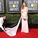 Justin Hartley and Chrishell Stause at 2019 Golden Globes