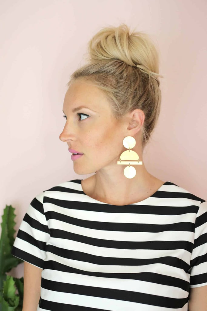 DIY Geometric Statement Earrings