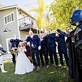 Christine and Brian's wedding day happened to be on May 4, which inspired them to have a Star Wars-themed wedding. See the wedding here!