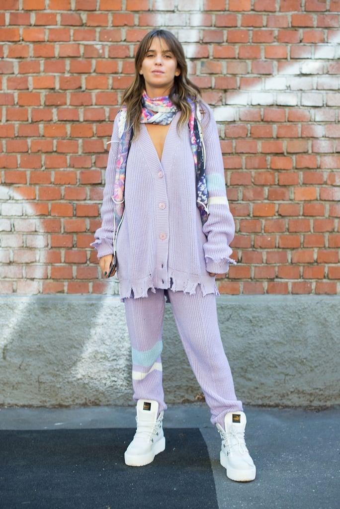 how to wear lavender colour women