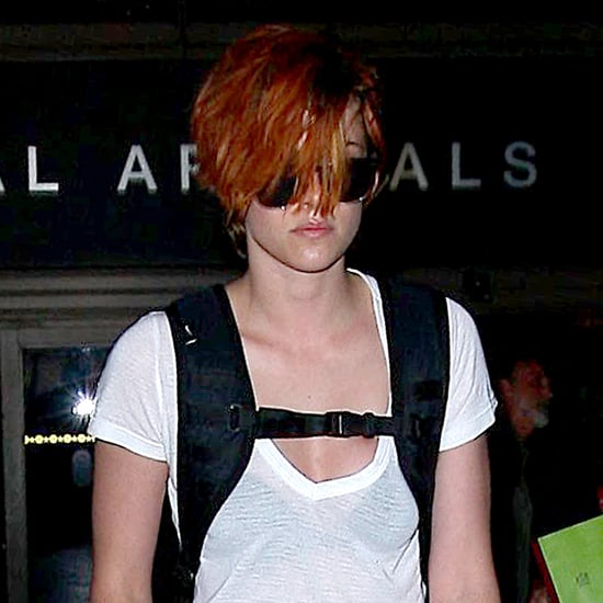 Kristen Stewart With Short Red Hair at the Airport