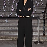 Karolina Kurkova wore a black suit.