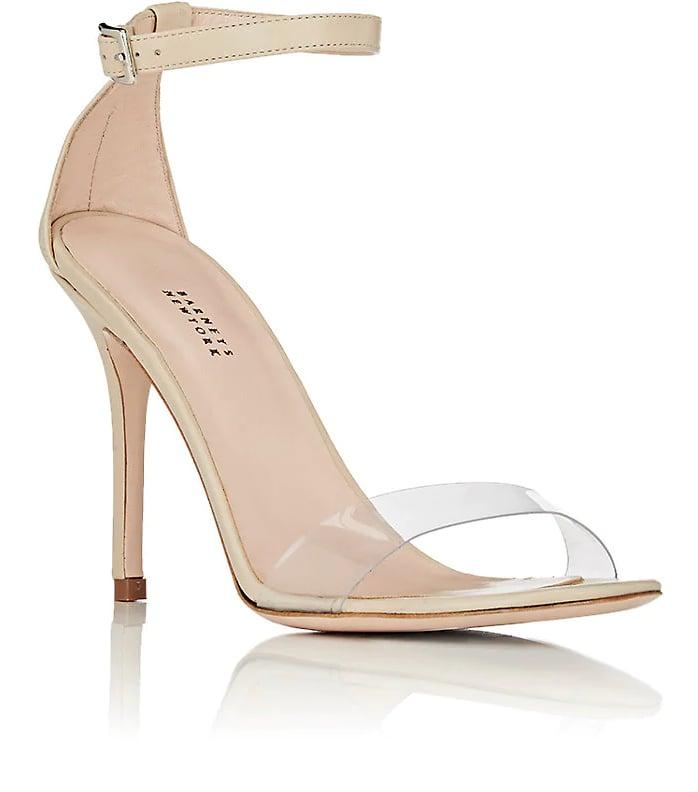 ab062b479443 Barneys New York Leather   PVC Ankle-Strap Sandals
