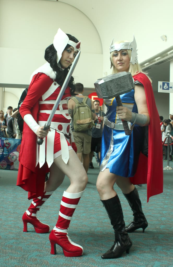 Lady Sif and Thor