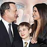 Sandra was joined by costars Tom Hanks and Thomas Horn at the December 2011 NYC premiere of Extremely Loud & Incredibly Close.