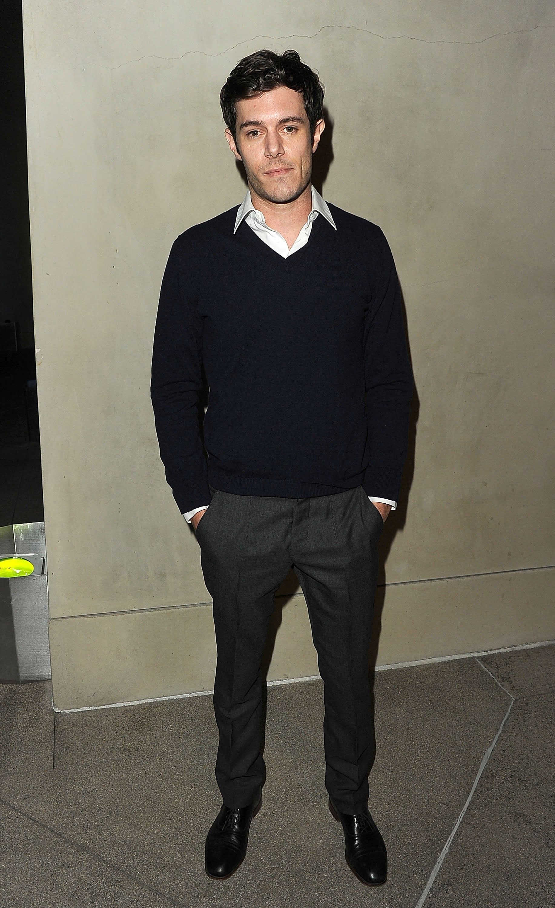 Adrien Brody attended a dinner for Armani and Vanity Fair.