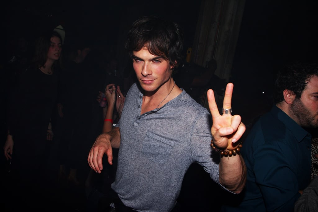 Ian Somerhalder partied at the NYC Verizon Wireless Droid launch in November 2009.