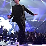 Just hopped on (and all over) the iHeartRadio Music Festival stage in Givenchy by Riccardo Tisci's slim designs.