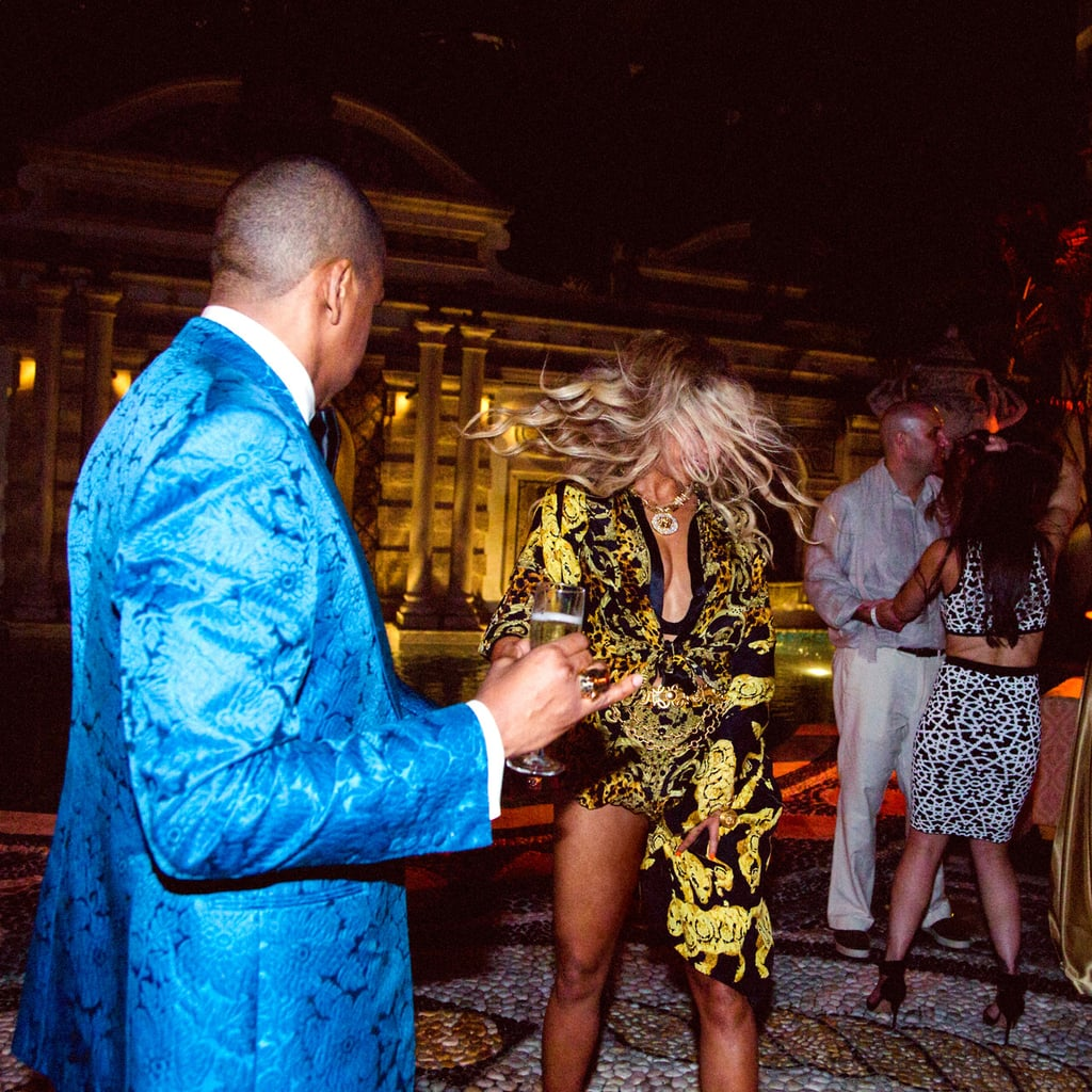 She and Jay Z got their dance on while celebrating New Year's Eve at the Versace mansion in Miami in 2013.