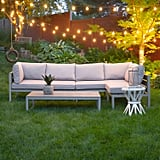 Gray 4-Piece All-Weather Patio Set With Cushions