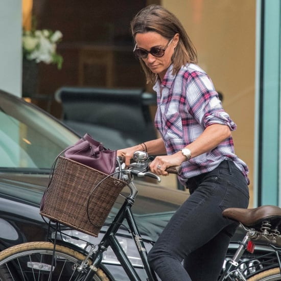 Pippa Middleton Riding a Bike in London September 2017