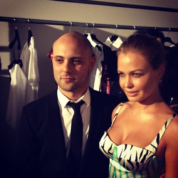 Lara Bingle hung out with Josh Goot x 2 — in his dress and with the man himself! Source: Instagram user mslbingle