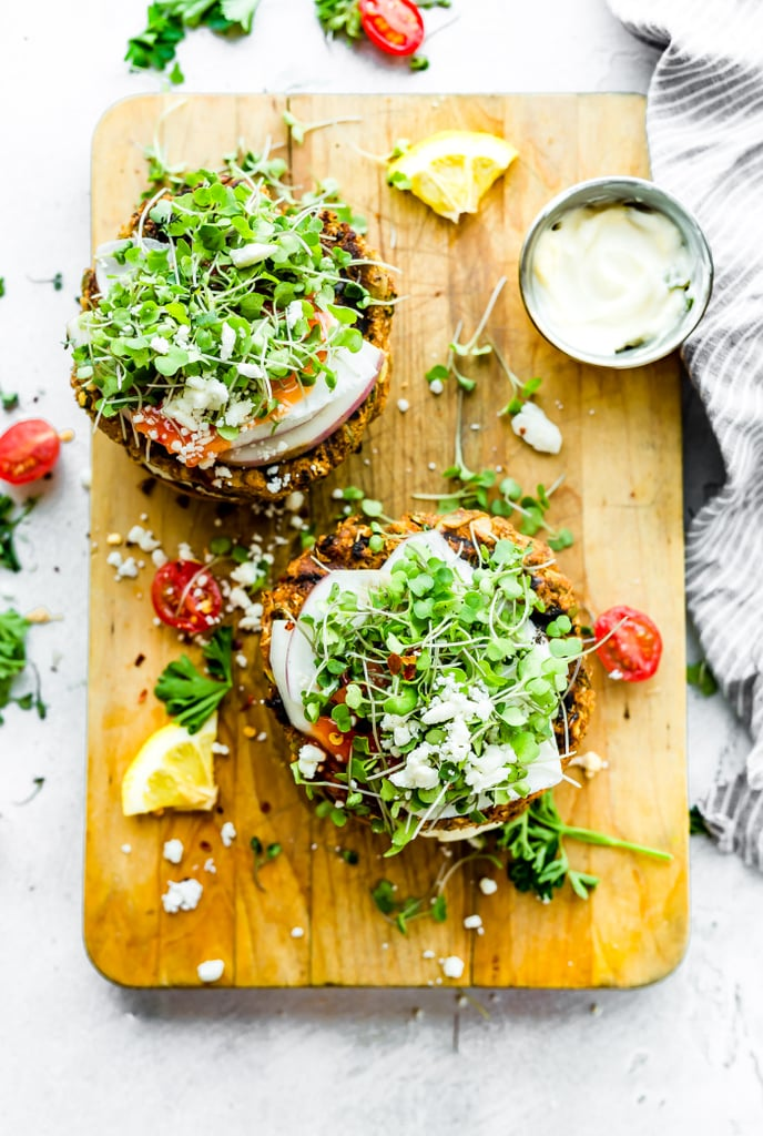 Grilled Moroccan Cauliflower Chickpea Burgers