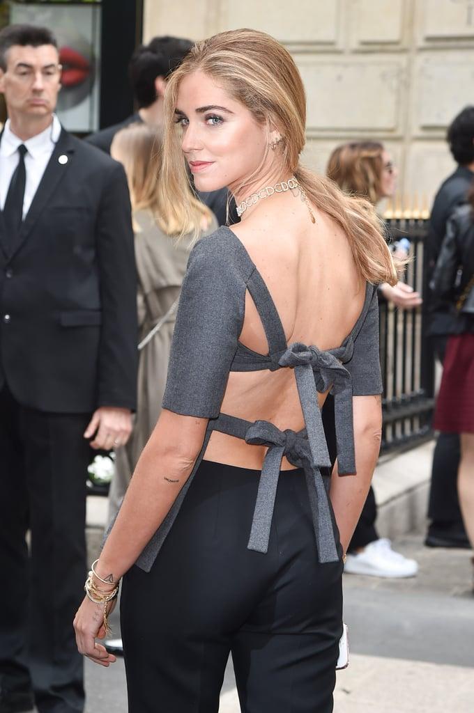 Chiara Ferragni Dior Top at Couture Week 2016