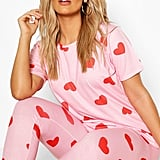 Plus All Over Heart PJ Set