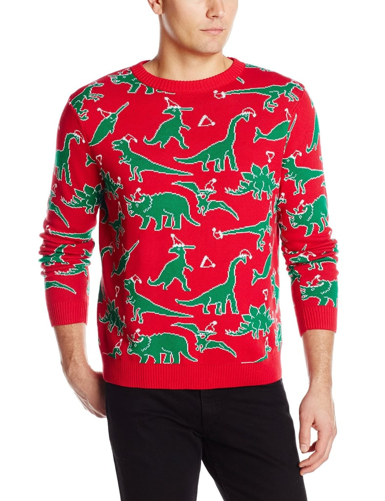 Dinosaur Chaos Ugly Christmas Sweater