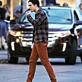 Robert Pattinson was spotted on the Toronto set of Cosmopolis.