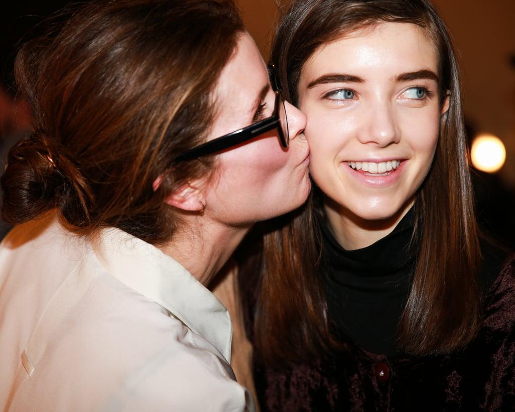 A Model Receives Kisses at Rag & Bone