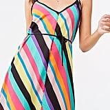 Forever 21 Multicolor Striped Midi Dress