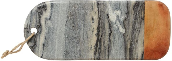 Gray & Willow Dark Marble and Wood Chopping Board