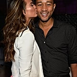 Chrissy gave her man a sweet peck on the cheek at a Sports Illustrated party in Miami in February 2014.