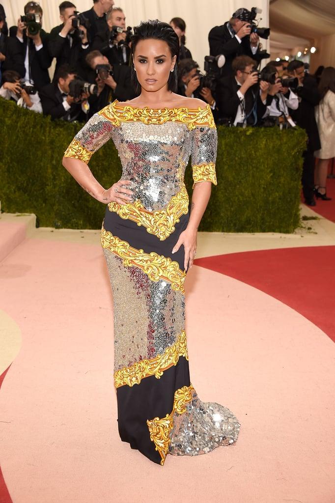 Demi Lovato Moschino Dress at Met Gala 2016