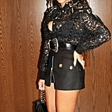 Beyoncé's Black Lace Top and Miniskirt