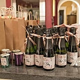 KaToby mini champagne bottles and candles. . . seriously going to need the party planner's contact information, OK?